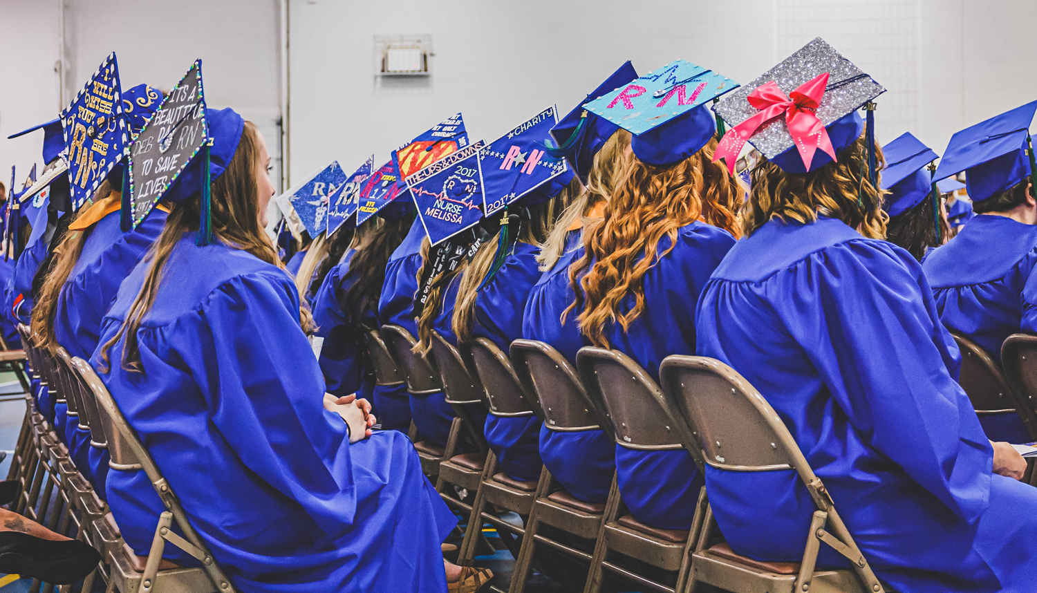 Photo of students graduating