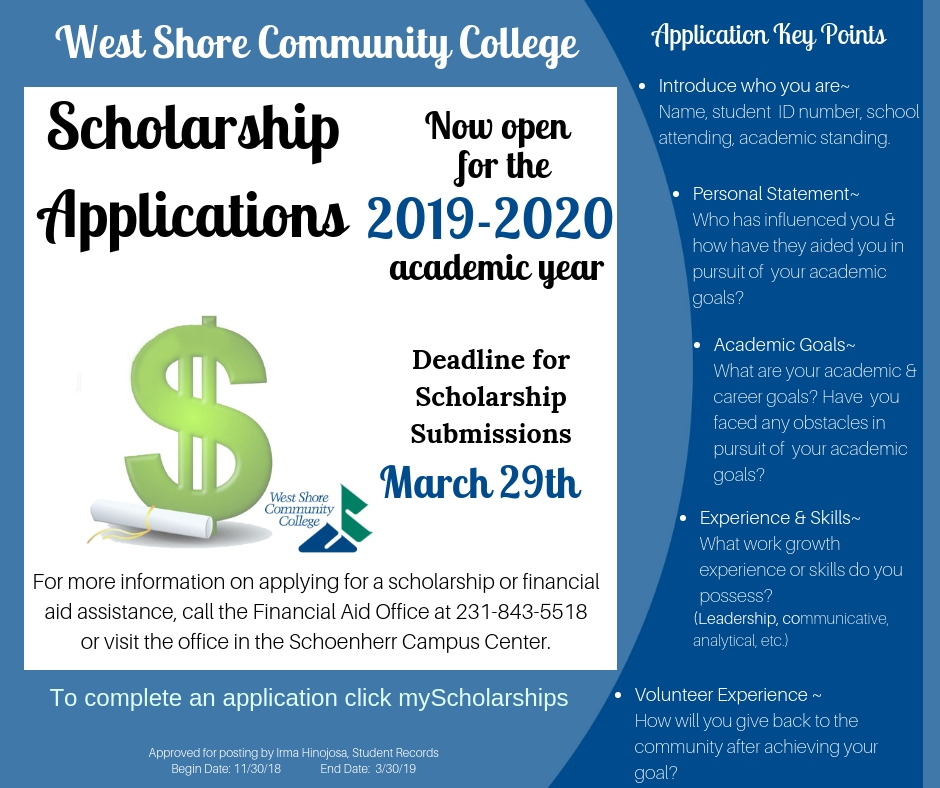 Scholarships For College Students >> Scholarships West Shore Community College